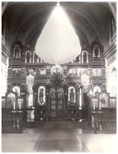 Interior of Spaso-Preobrazhensky cathedral